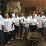 Lloyds Banking Group volunteers outside the Park & Pool Enterance